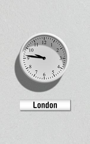 Tid London Europa England Flytning